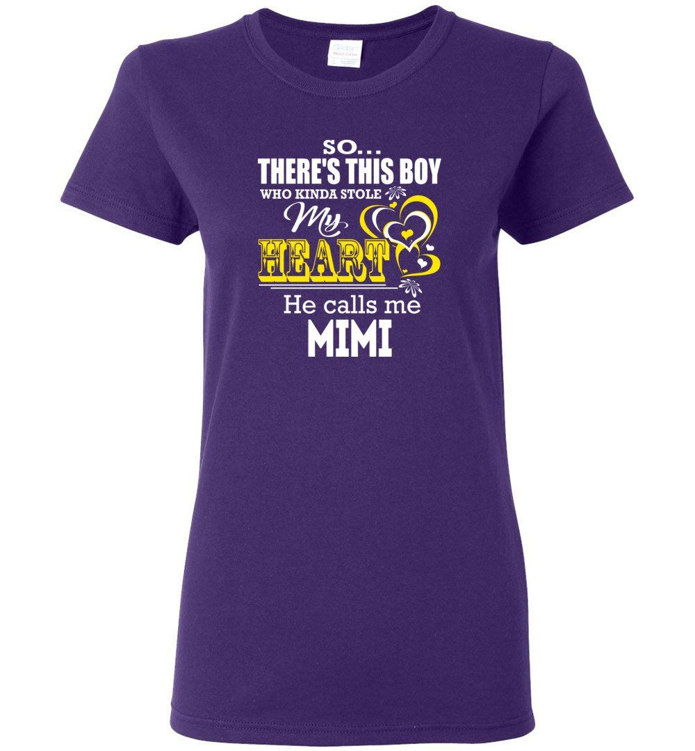 This Girl Who Kinda Stole My Heart He Calls Me Mimi - Ladies Short-Sleeve