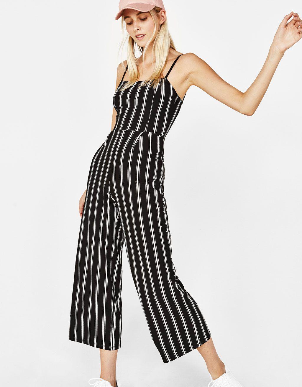 775fb0648 Mono largo con tirantes en 2019 | Mono | Trajes de moda, Vestidos ...