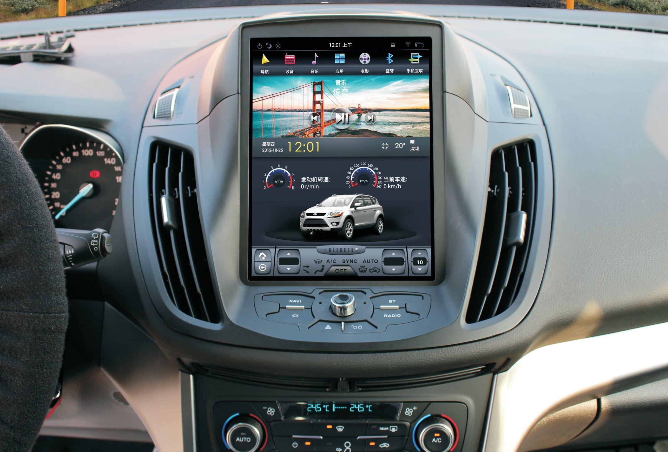 12 1 Tesla Vertical Screen Android Car Multimedia Gps Navigation