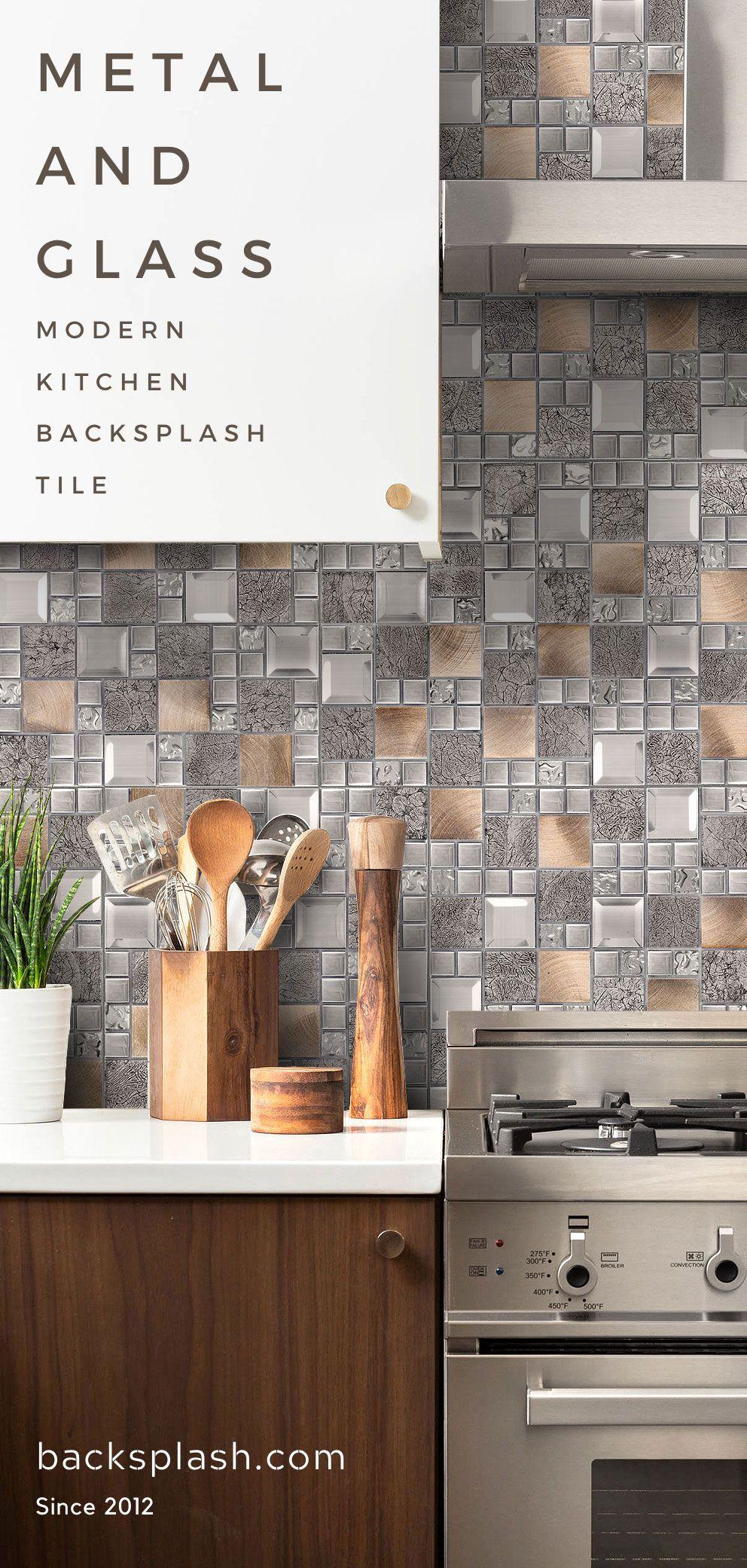 Glass Metal Gray Copper Mosaic Backsplash Tile Backsplash Com Kitchen Backsplash Trends Copper Mosaic Backsplash Tile Backsplash