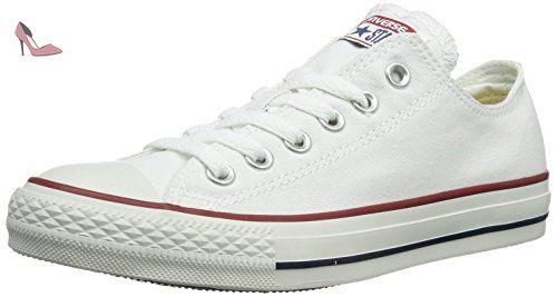 Converse Stars & Bars Ox, Baskets mode mixte adulte - Blanc/bleu/rouge, 38 EU
