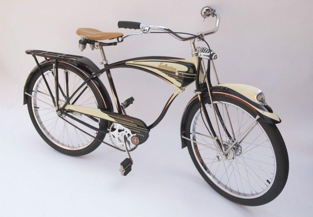 1948 Schwinn B6 Black Bu 01 Dave S Vintage Bicycles Vintage Bicycles Bicycle Schwinn Bike