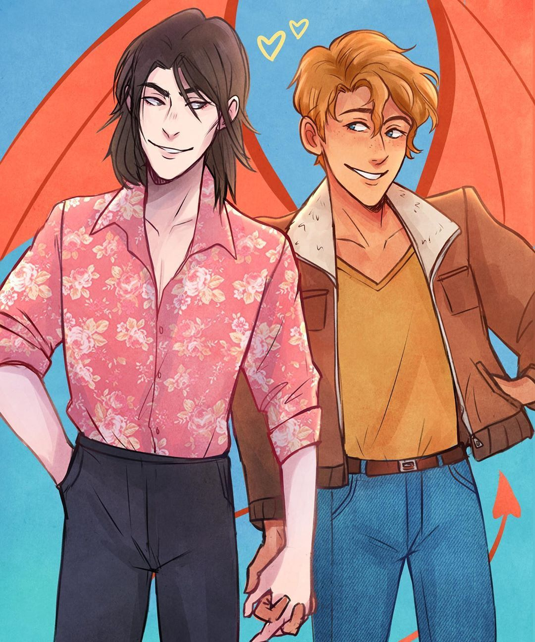 Simon e Baz fan art Rainbow rowell