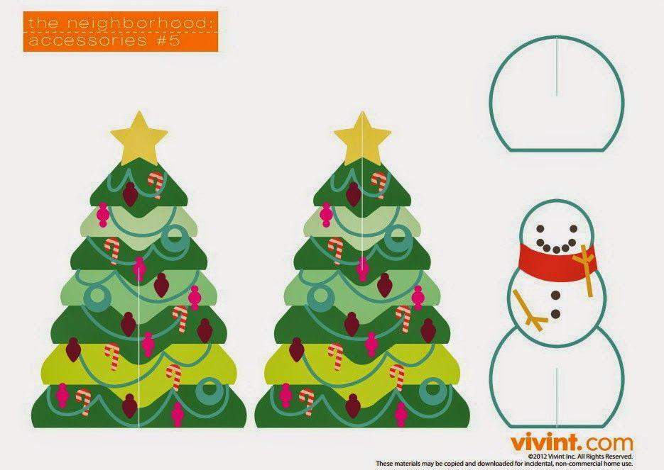 Imprimolandia: Arbol de Navidad y casas para imprimir | SUPER IDEAS ...