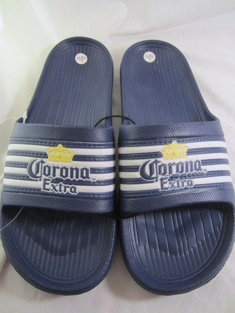 bad0a9419eb Corona Extra Mens Slides Blue 11 12 L Sandals Beach Pool Cruise Waterproof  New  CoronaExtra  Cerveza  beerdrinkers  ilovebeer  coronaextragear