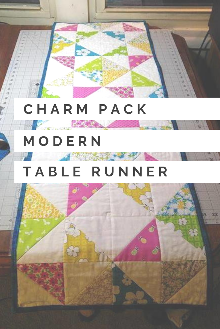 Charm Pack Modern Table Runner Quilted Table Runners Patterns Patchwork Table Runner Charm Pack Quilts