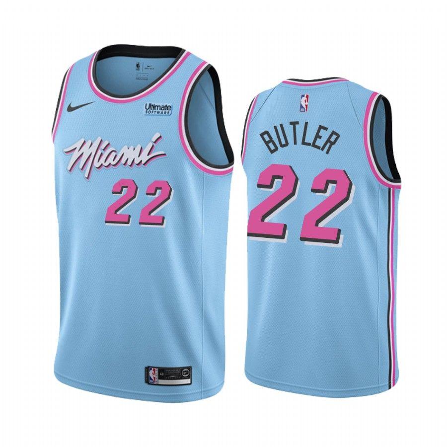 Men S Miami Heat Jimmy Butler Blue 2019 20 City Edition Jersey In 2020 Miami Heat Miami Nba Jersey