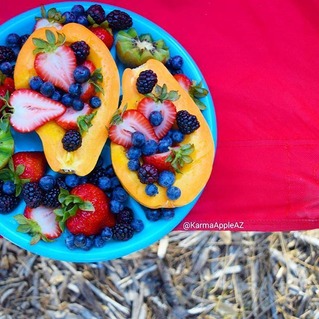 Karma Apple Fruit platters are for camping // Hope you had a wonderful weekend. The boys and…