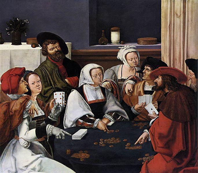 1508-10 Lucas van Leyden (Dutch artist, 1494-1533), Card Players