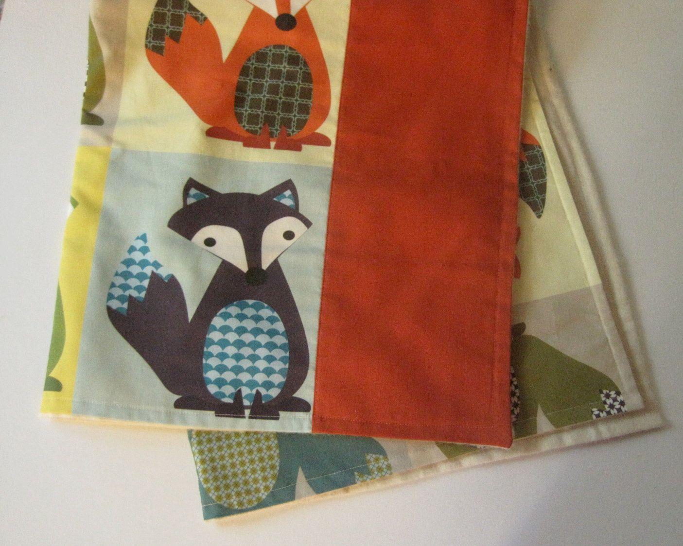 organic baby blanket   modern woodland fox eco by SewnNatural, $62.00