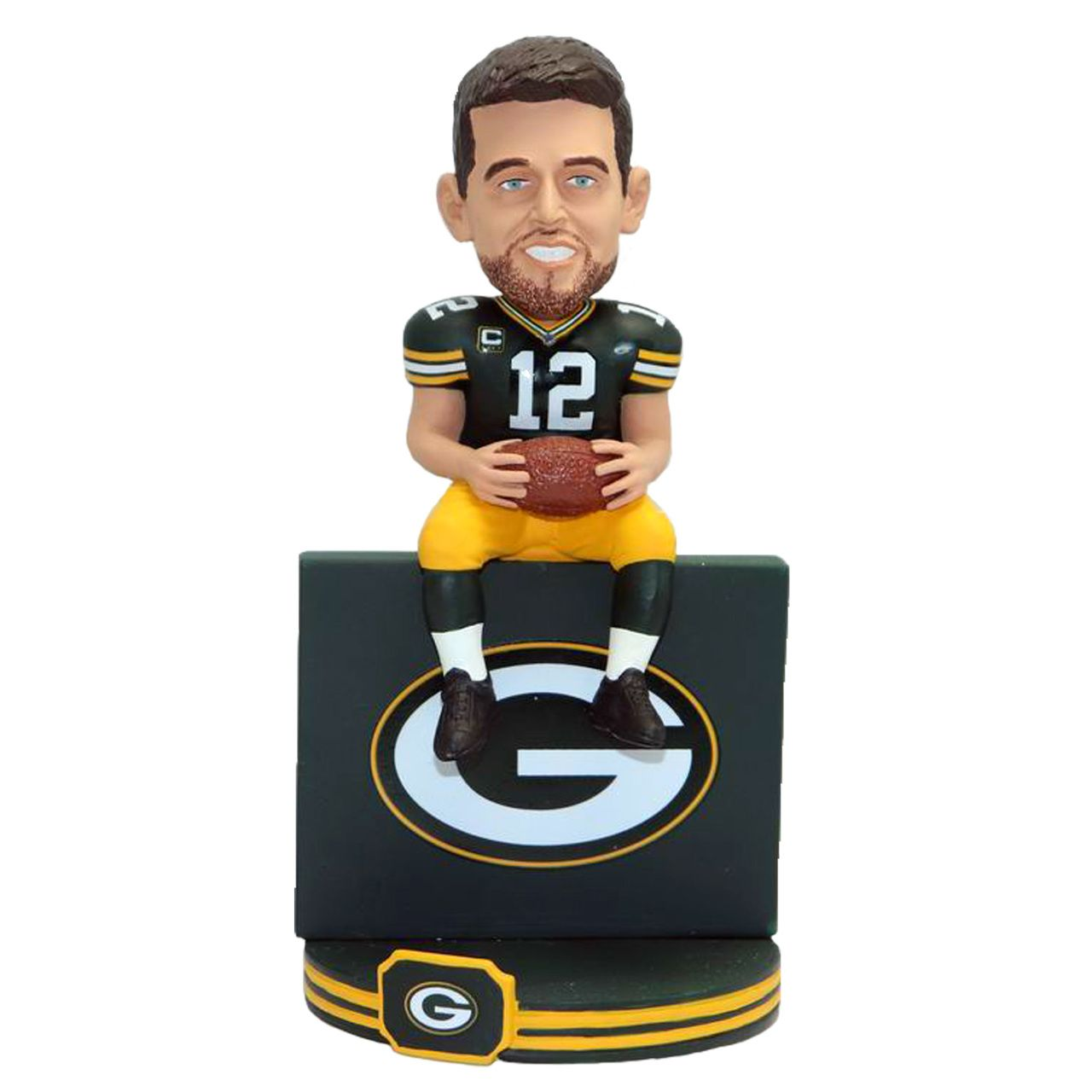 Aaron Rodgers Green Bay Packers Lambeau Leap Wall Bobblehead In 2020 Rodgers Green Bay Bobble Head Green Bay Packers