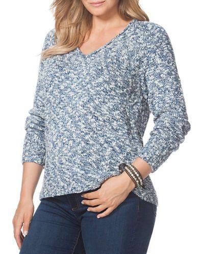 Brands | Plus Size | Plus Marled V-Neck Sweater | Hudson's Bay