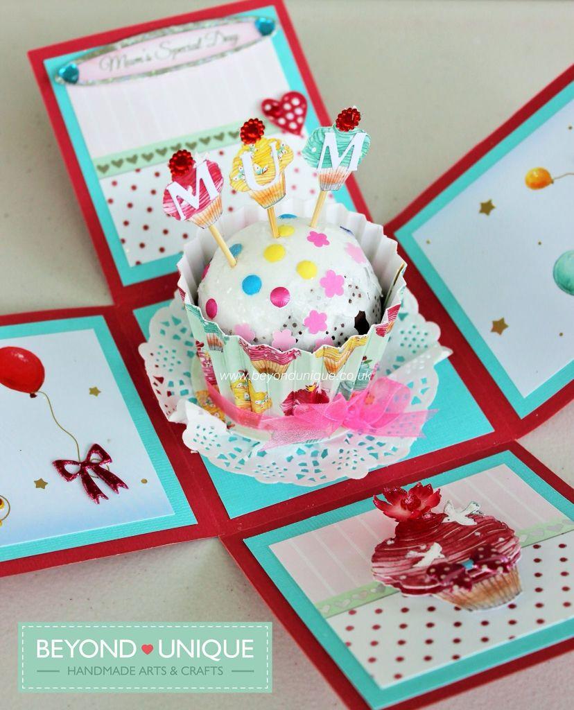 Happy Birthday Mum Exploding Box Cake Card Design Facebook