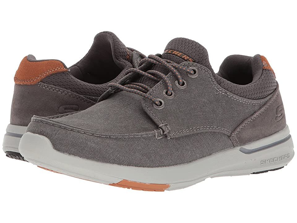 Skechers relaxed fit elent mosen charcoal mens lace