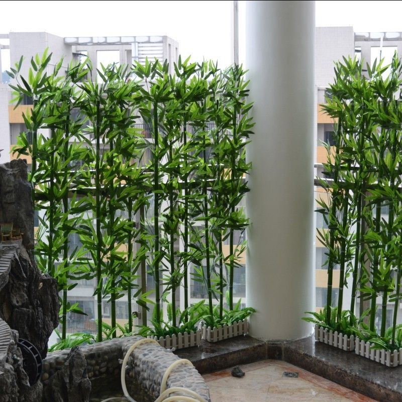 Artificial Bamboo Plastic High Artificial Bamboo Green Screen Plants French Bonsai Decoration