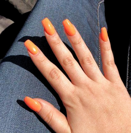 acrylic coffin short matte orange 21 new ideas in 2020