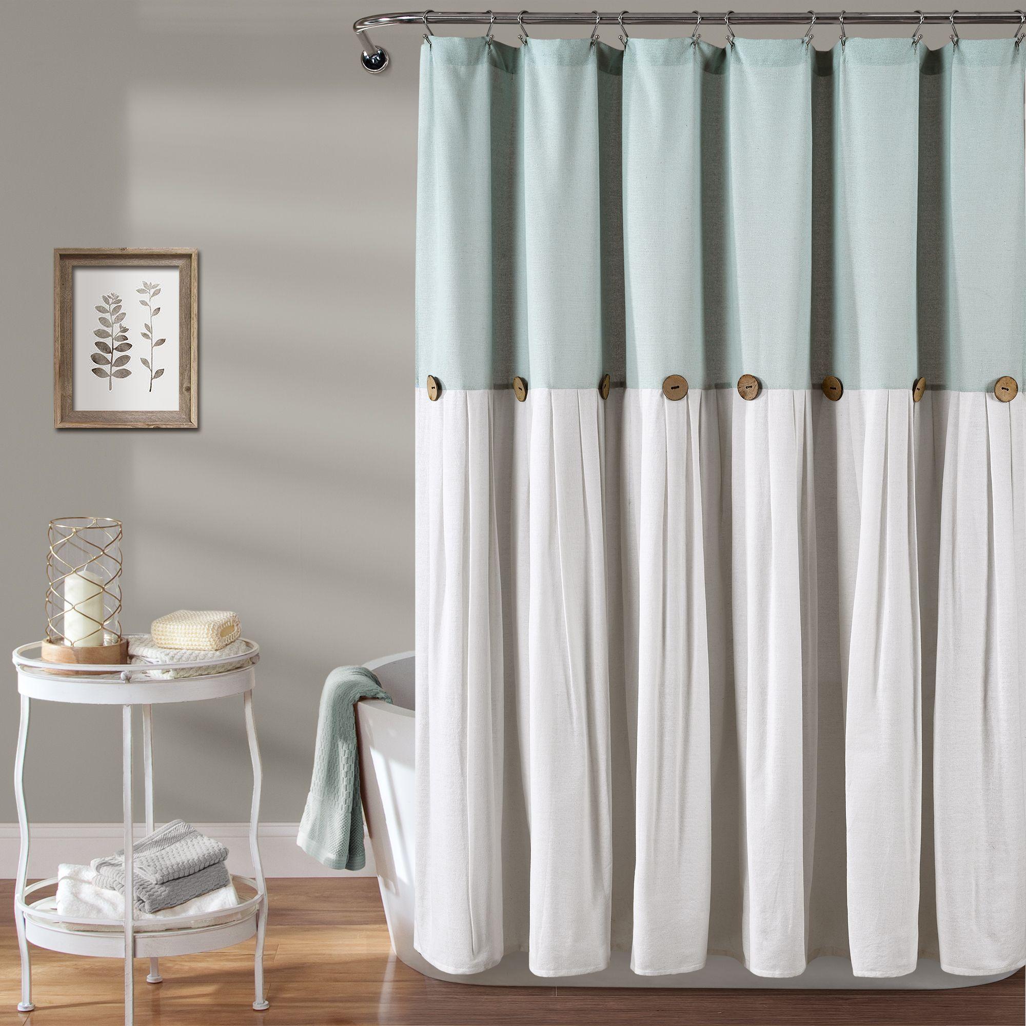 Home Farmhouse Shower Curtain Lush Decor Curtains