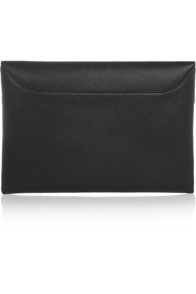 517e91ff9a8f Givenchy - Antigona Envelope Clutch In Black Grained Leather ...