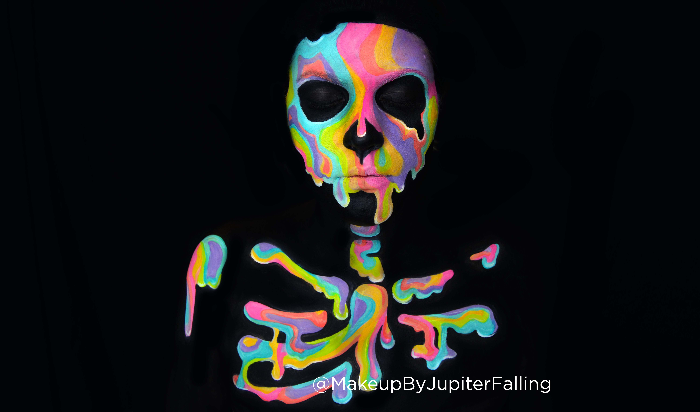 Holographic Skull Makeup MakeupByJupiterFalling
