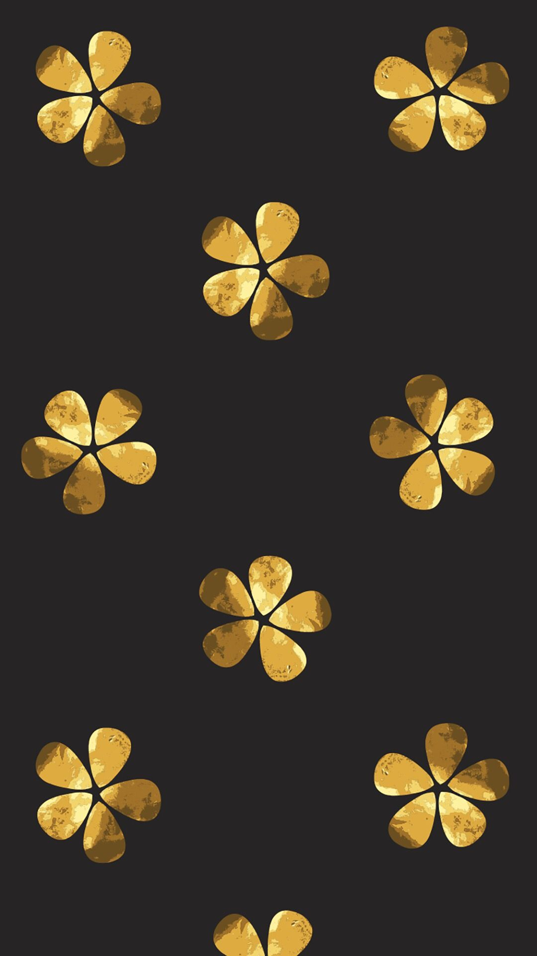Black And Gold Flowers Wallpaper Iphone Flowery Desktop