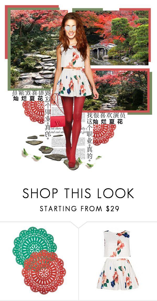 """Shugakuin Imperial Villa (修学院離宮)"" by annynavarro ❤ liked on Polyvore featuring Kim Seybert, Haze and Louis Vuitton"