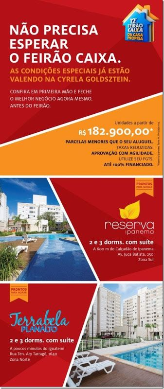 RS Notícias: Feirão Caixa: Apartamentos a partir R$ 182 mil com...