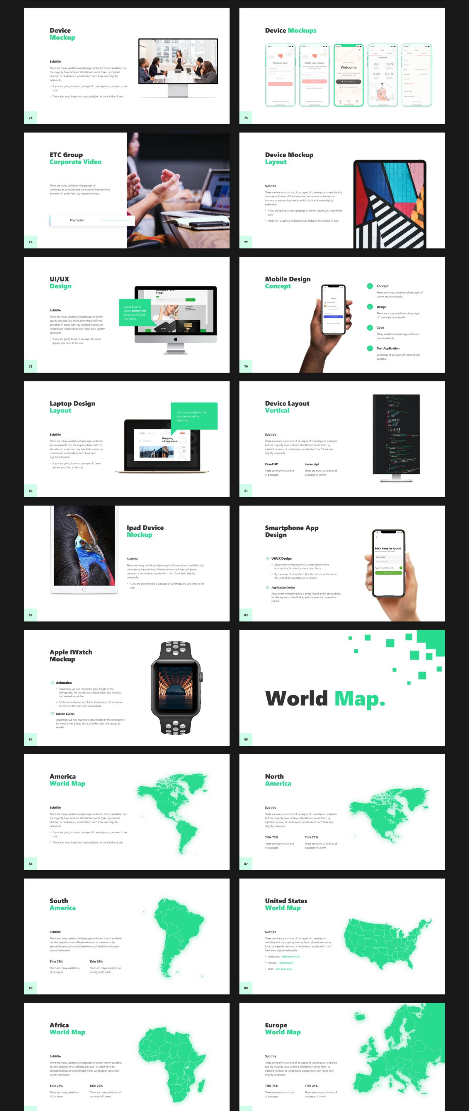Business 2020 - Smooth Animated PowerPoint Template in Presentation Templates on Yellow Images Creative Store