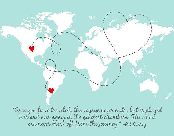 Mom christmas gift for long distance family distance quote love long distance world map north and south by paperplaneprints gumiabroncs Choice Image