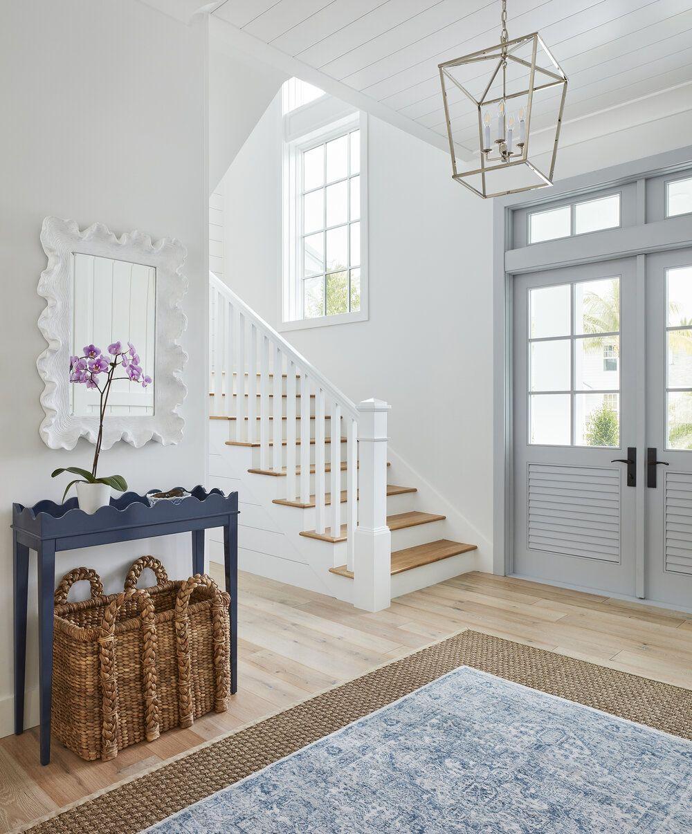 House Tour- A Serene Blue + White Beach House Interior