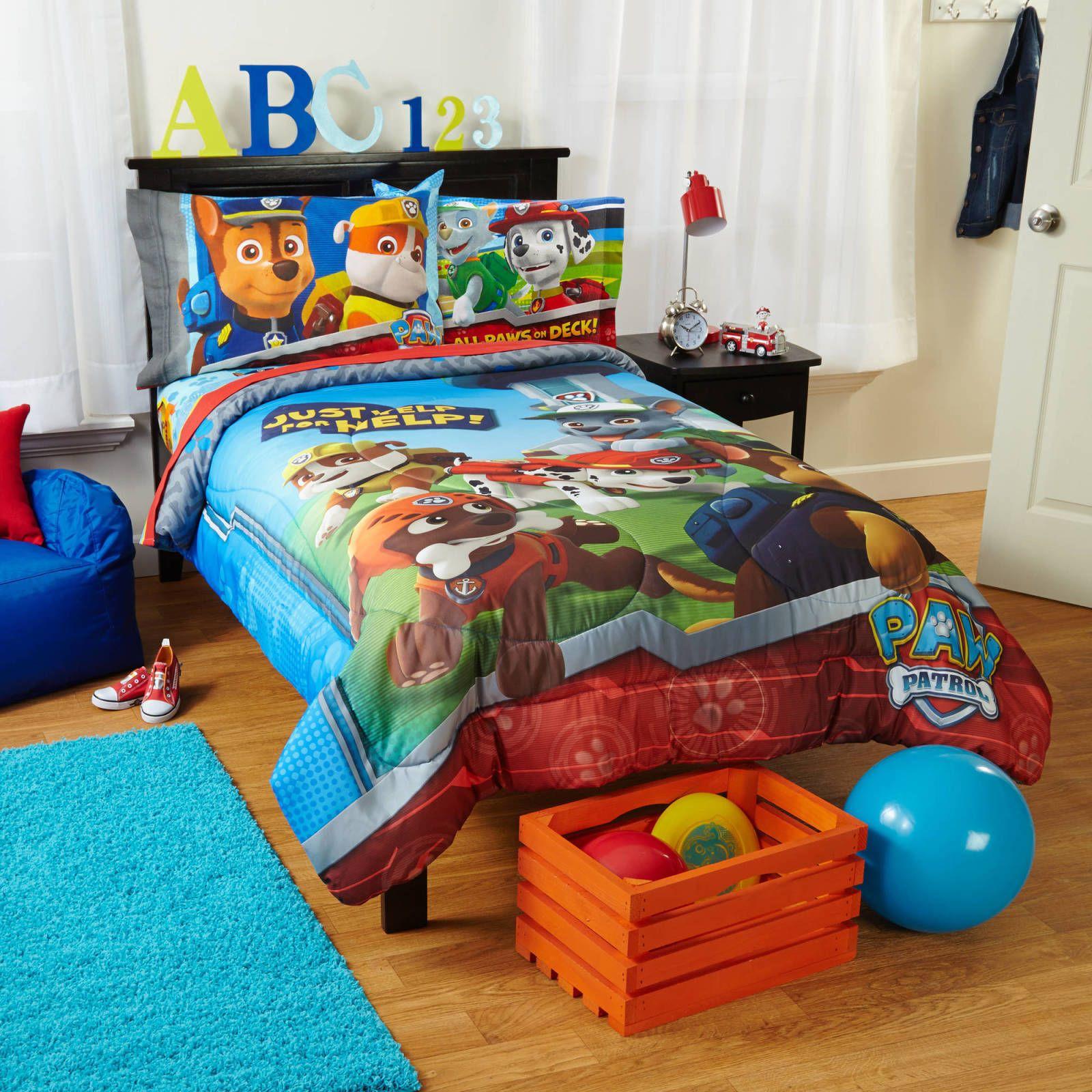 Twin Kids Room: Nickelodeon's Paw Patrol Twin Size Comforter RuffRescue