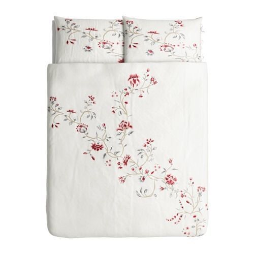 Ikea Rodbinka Full Queen Duvet Cover Pillowcase White Floral Rodbinka Red New Ikea Contemporary Duvet Covers Pillow Cases Quilt Cover