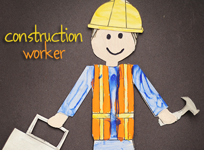 Printable.....great for pin the hammer or lunch box or hard hat on the construction worker.