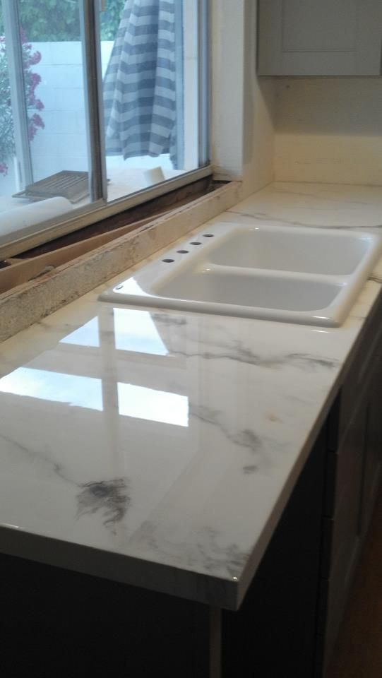 Charmant Faux Marble Countertop