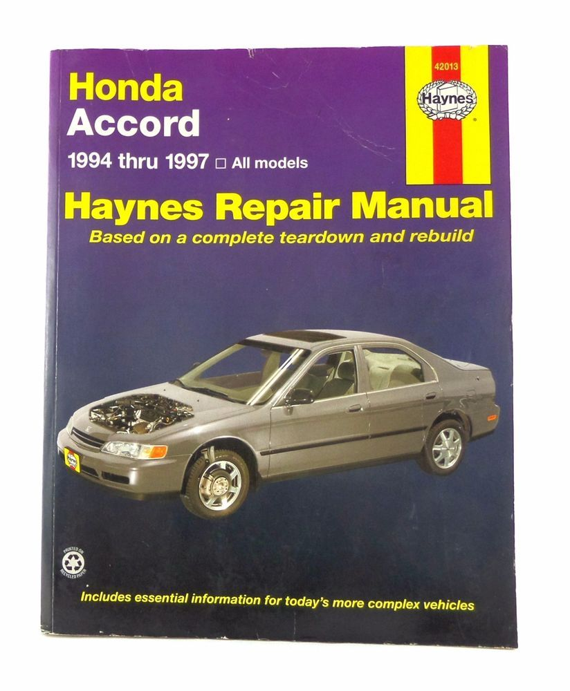 honda accord 1994 1997 haynes repair owners manual book vehicle rh pinterest com 1997 Honda Accord 1994 Honda Accord Station Wagon