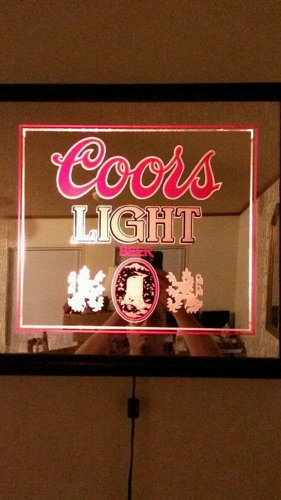 Vintage coors light lighted mirror sign works coors light vintage coors light lighted mirror sign works aloadofball Images