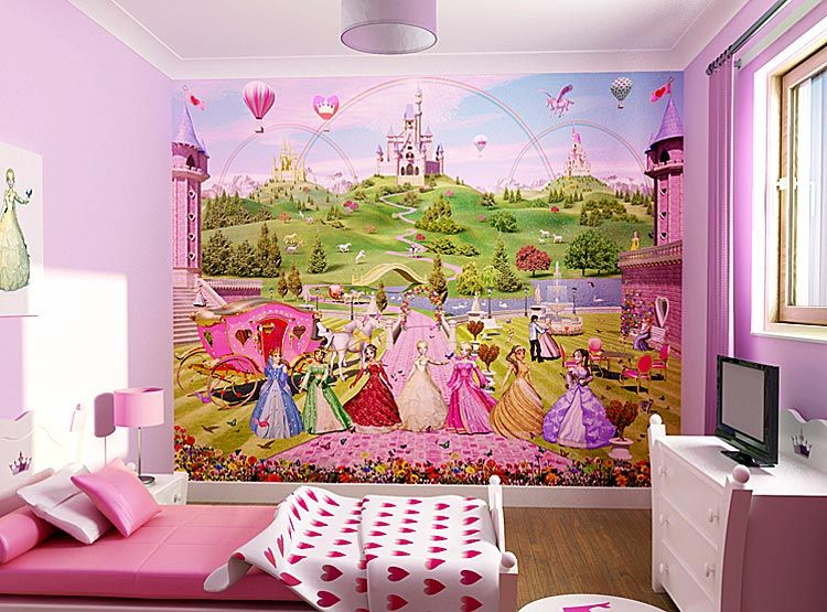 wallpaper for rooms for girls   Beauty Disney Princess ...