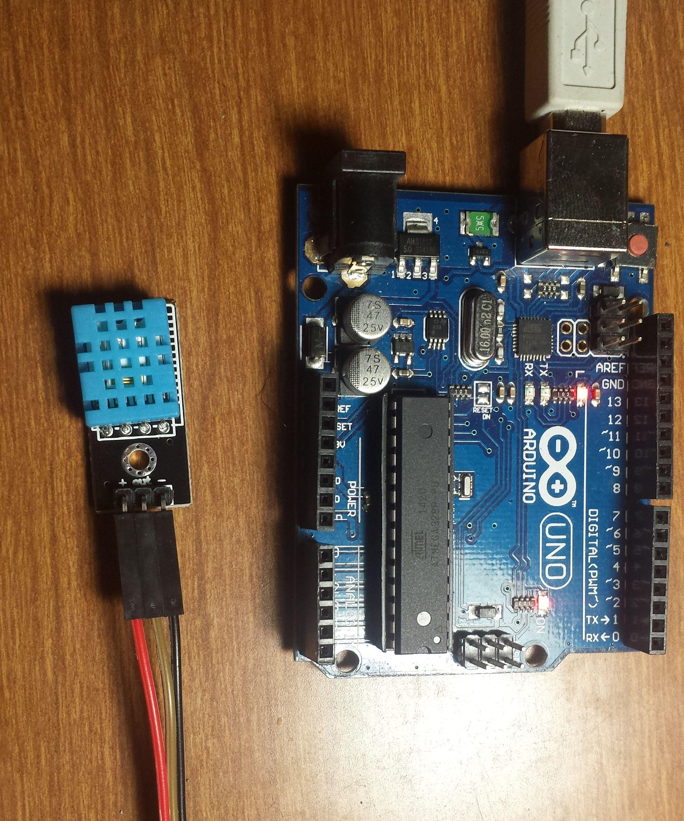 Sensor De Temperatura Y Humedad Dht11 Arduino Tech Pinterest Cool Projects Electronics And Microcontrollers Raspberry Tutorials Raspberries