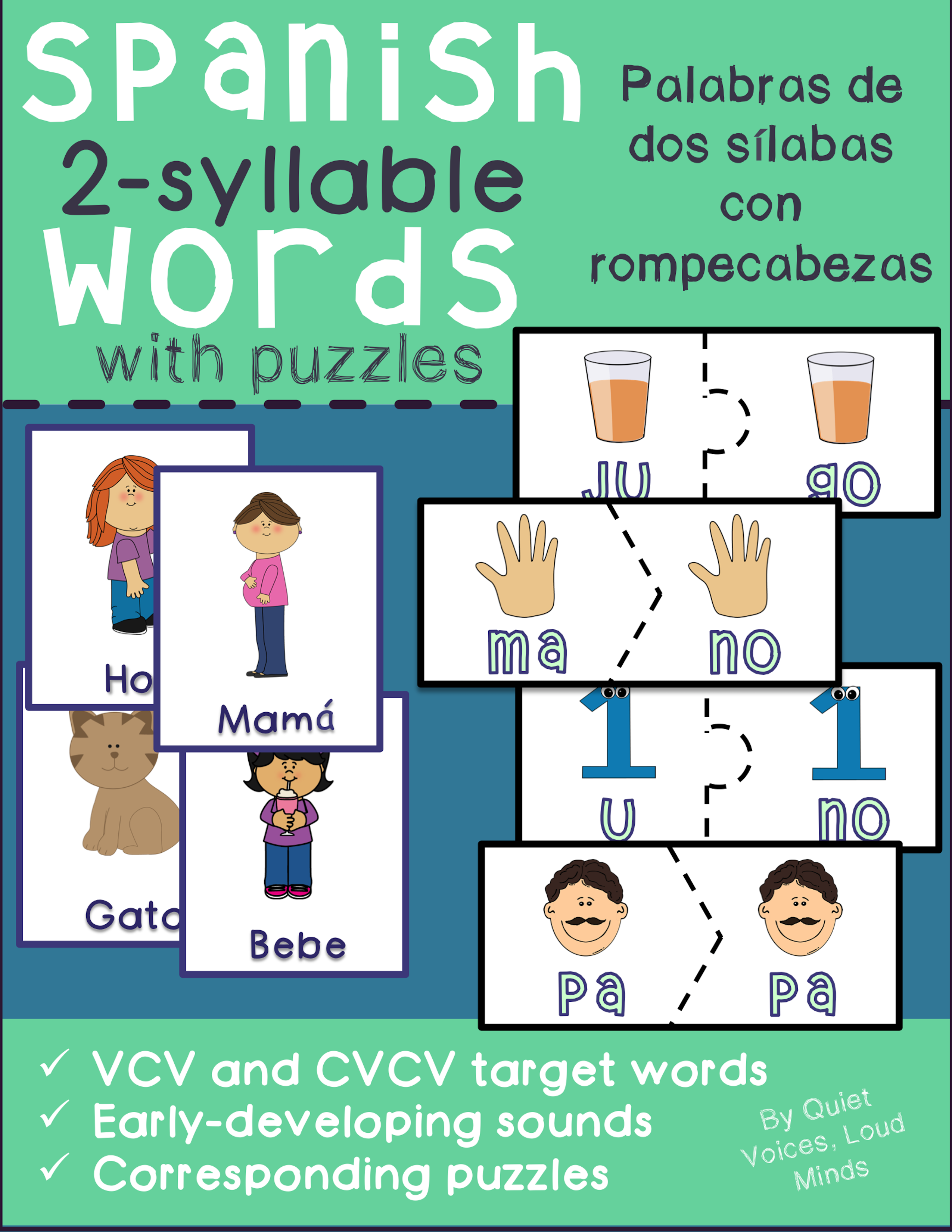 Spanish Two Syllable Words Early Developing Sounds