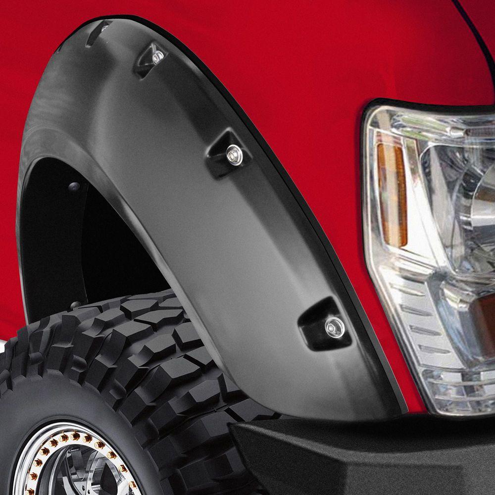 Fender Flare Kit Bolt On Pocket Rivet Style Smooth Set of 4 for Ram Pickup Truck