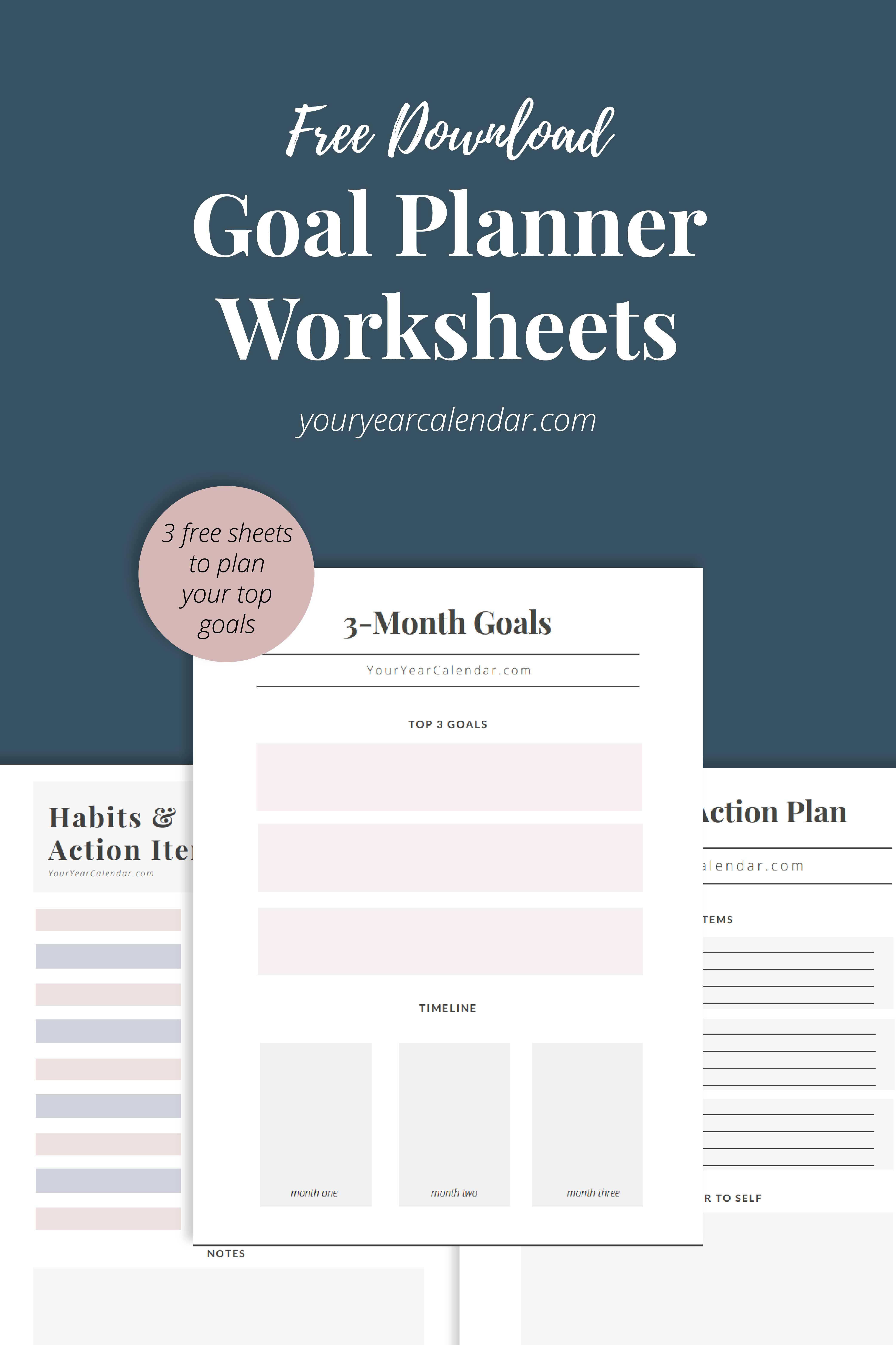 Free Goal Planning Worksheets In