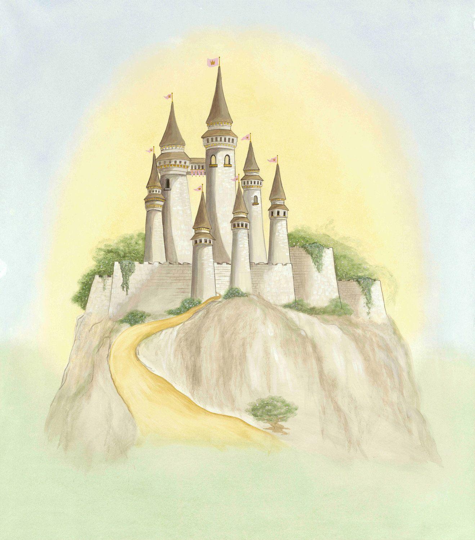 Fairy tale Castle PRINT, Nursery Art for Child or Girls Room Decor ...