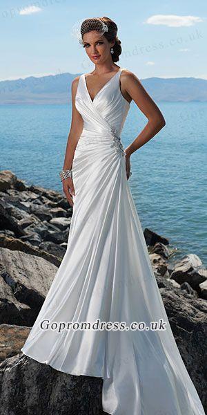 beach wedding dress   wedding dresses   Pinterest