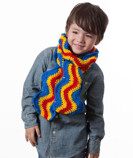 Brilliant Kids Ripple Scarf | Crochet for Babies and Children ...