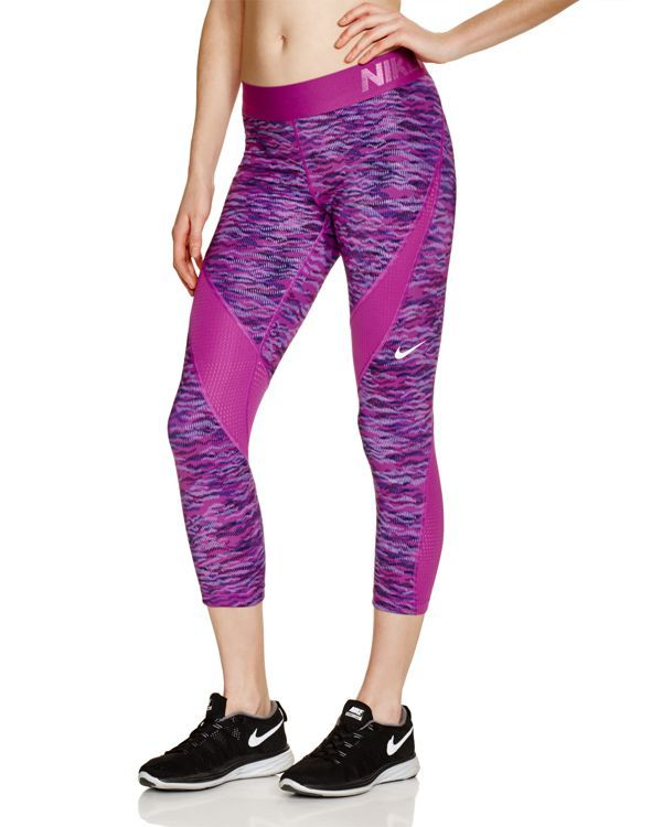 Nike Pro Printed Capri Leggings Women - Bloomingdale's ...