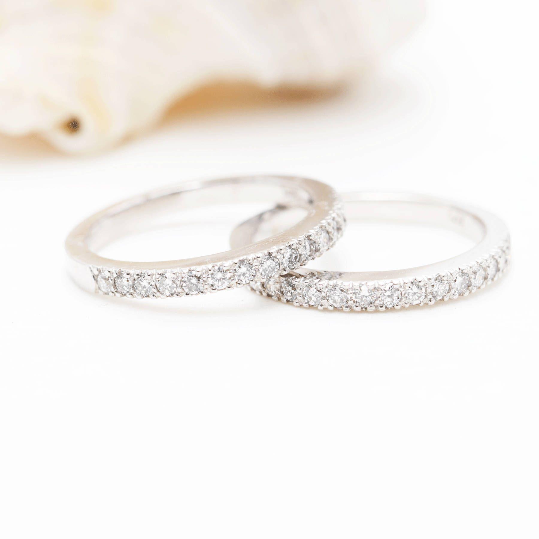 High Quality Diamond Double Row Wedding Band 0 73ct Natural Etsy In 2020 Diamond Wedding Bands Quality Diamonds Wedding Bands