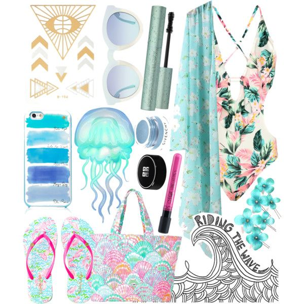 Ready for the beach 2016 by elinajuslin on Polyvore featuring Lilly Pulitzer, Kate Spade and Givenchy
