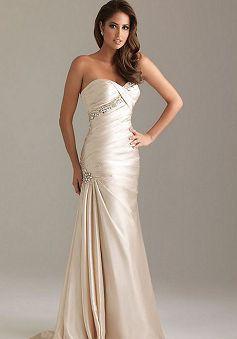 A line Zipper Back Sweetheart Satin Floor Length Sleeveless Evening/ Prom Dress - Angeldress.co.uk
