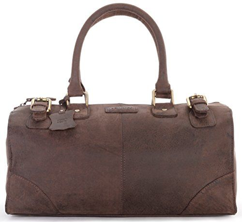 LEABAGS Arlington genuine buffalo leather shopper bag in vintage style  Nutmeg ** Click on the image for additional details.