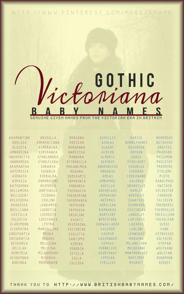 Gothic Vitoriana Baby Names