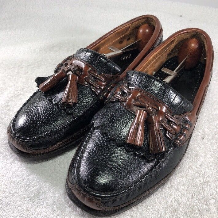 Johnston & Murphy Passport Men's Tassel Loafers Brown Leather Size 12 M(US)